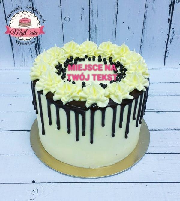 MajCake - tort klasyczny biała czekolada